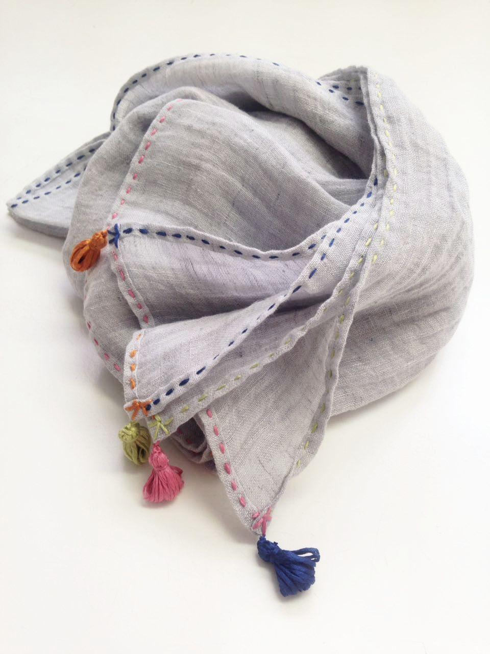 Sciarpa in lino naturale